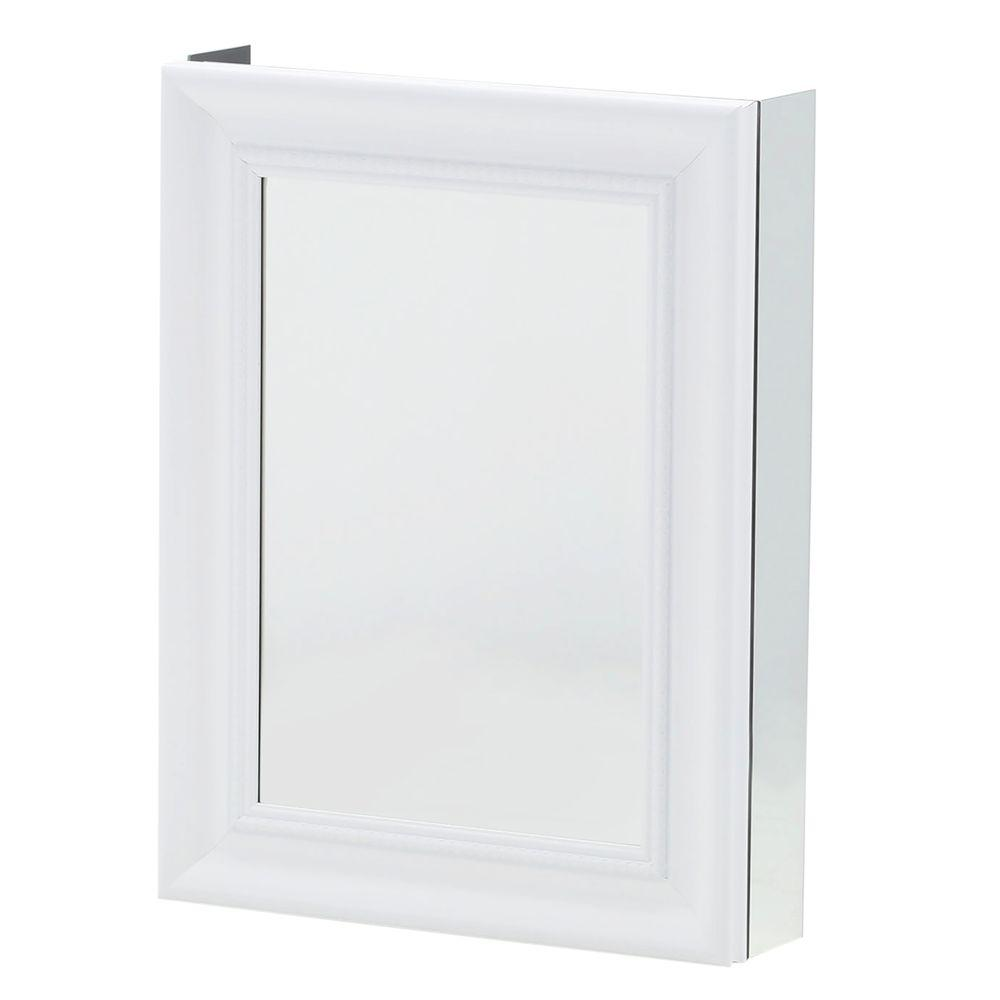 Pegasus 20 In W X 26 In H Framed Recessed Or Surface Mount Bathroom Medicine Cabinet With Framed Door In White New Open Box Walmart Com Walmart Com