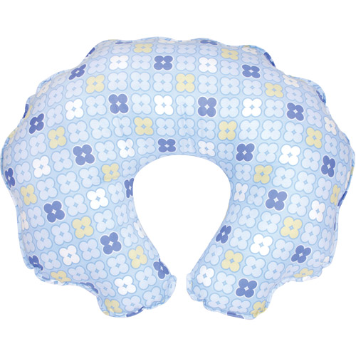 Leachco Cuddle-U Nursing Pillow Replacement Slipcover, Blue 4 Squares