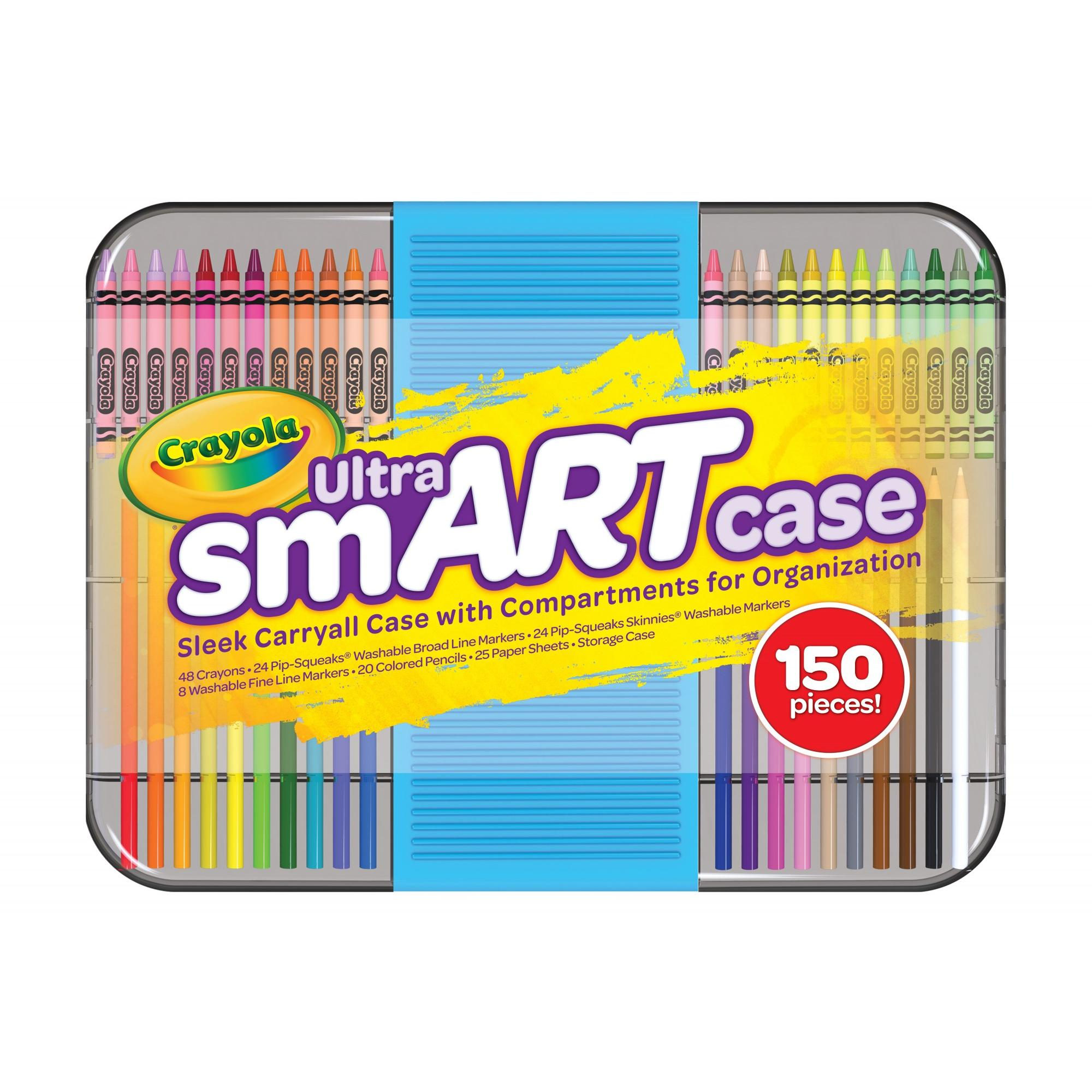 Crayola Ultra smART Case, 150 Pieces, Art Set, Gift for Kids & Adults