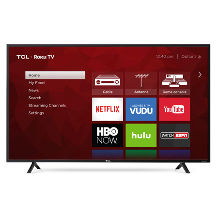 "70bc860ba90a TCL 55"" Class 4K (2160P) HDR Roku Smart LED TV (55S401) - Walmart.com"