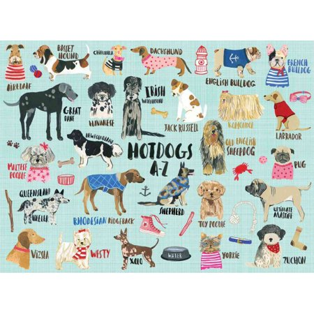 Hot Dogs A-Z 1000 Piece Puzzle - Dog Puzzles
