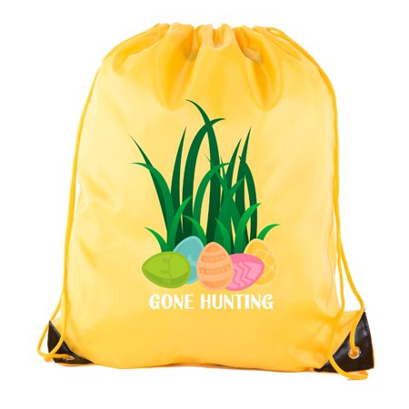 Easter Basket Bags, Bulk Drawstring Backpacks, Party Favor Goody Bags for Easter - Gone Hunting