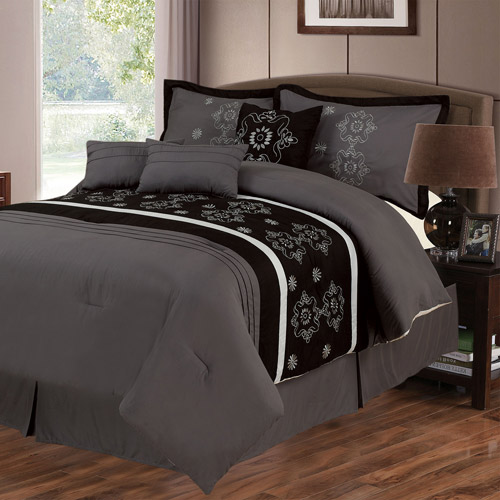 Somerset Home Julia 7-Piece Embroidered Bedding Comforter Set