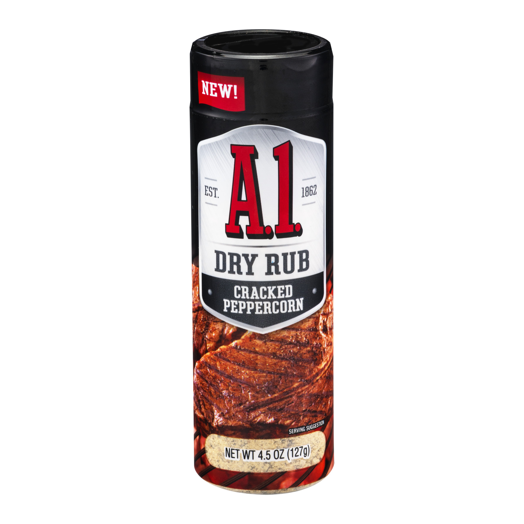A.1. Dry Rub Cracked Peppercorn, 4.5 oz, Shaker by Kraft Foods, Inc.