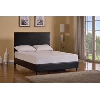 "HomeLife® 47"" Black Leather Headboard & Platform Bed"