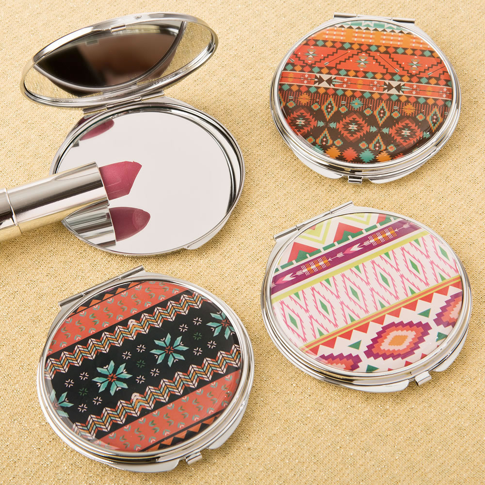 12 Delightful Aztec design compact mirror