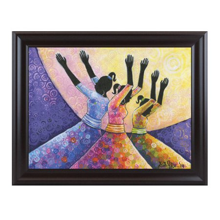 Image of African American Expressions Praise Him Framed Painting Print