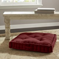 Better Homes & Gardens Corduroy Tufted Square Floor Cushion, Wine