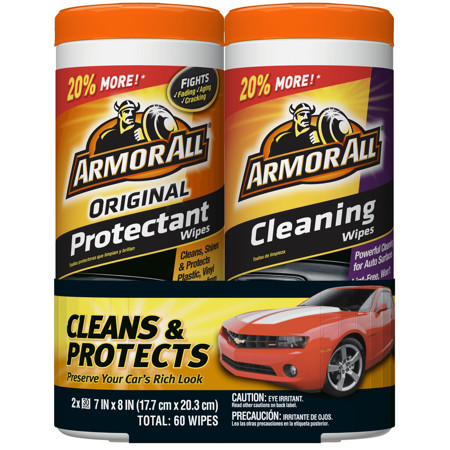 Armor All Original Protectant & Cleaning Wipes Two Pack (2 x 30
