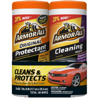 Armor All Original Protectant & Cleaning Wipes Two Pack (2 x 30 ct)