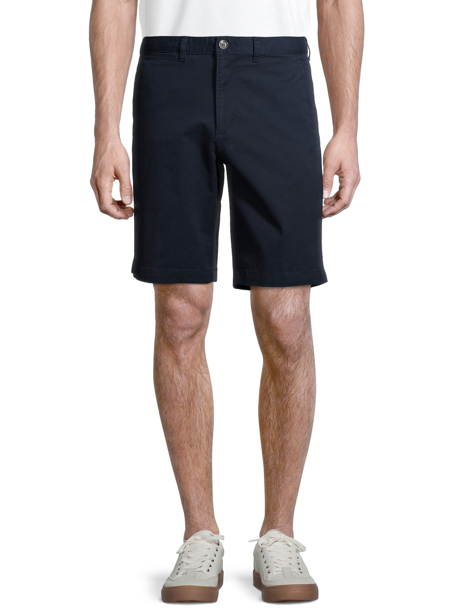 MEN/'S GEORGE SIZE 38 STRETCH FLAT FRONT SHORTS ABOVE THE KNEE  WITH FLAMINGOS
