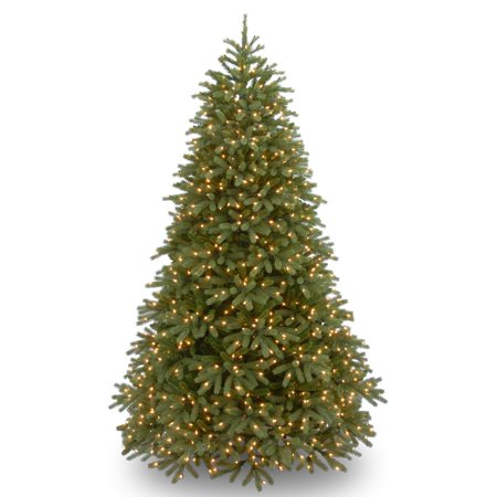 National Tree 7 5 Feel Real Jersey Fraser Fir Medium Hinged Tree With 1000 Dual Color Led Lights And Powerconnect System  9 Functions