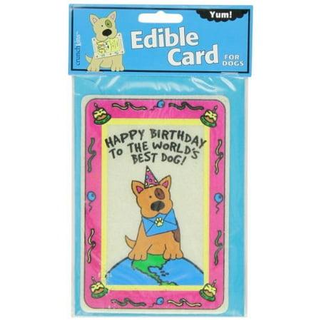 crunchkins edible crunch card, birthday, world's best
