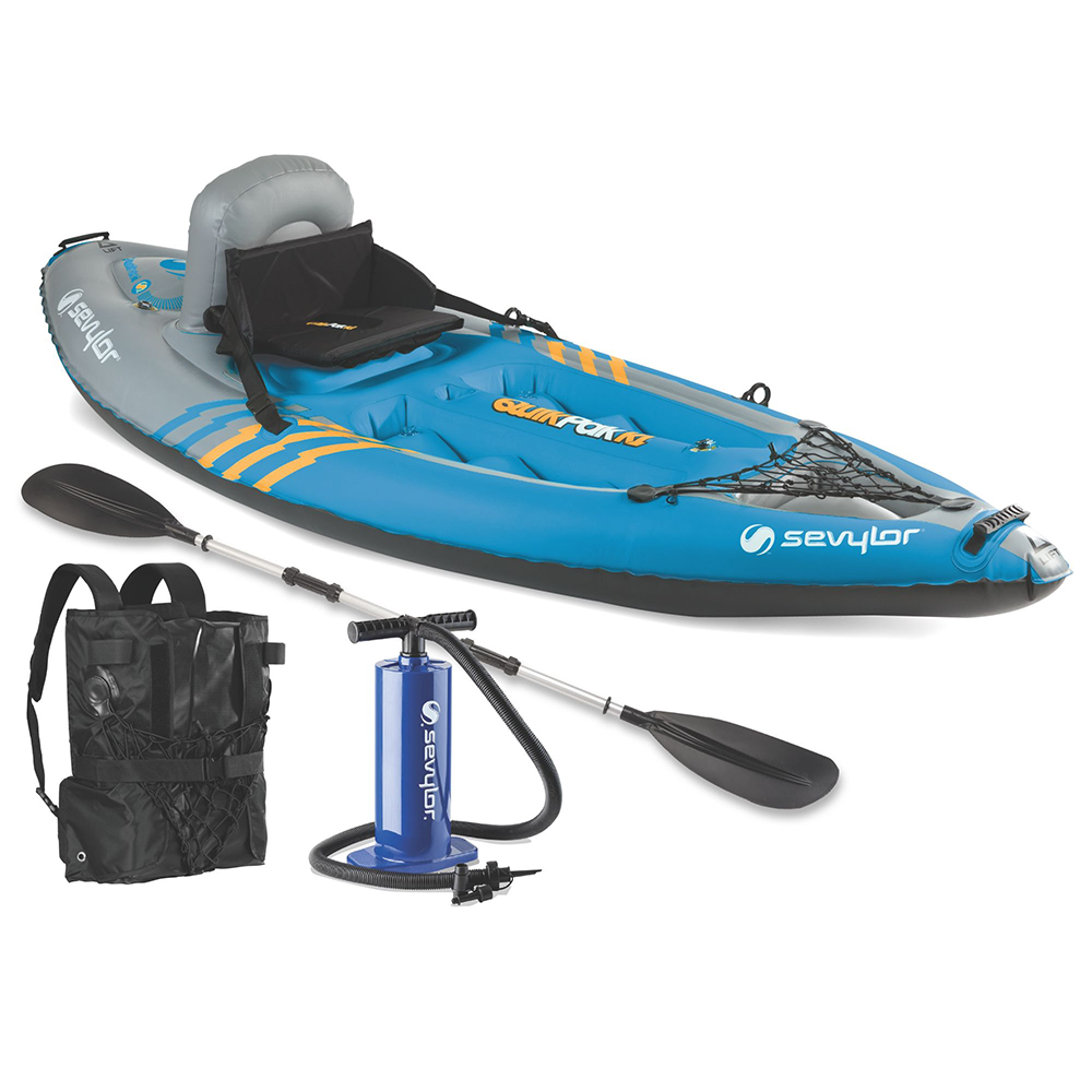 Sevylor K1 Quikpak 1-Person Inflatable Kayak with Airtight System