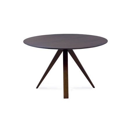 Saloom Furniture Nova 60 Round Maple Smooth Top Custom Dining Table In Java Finish