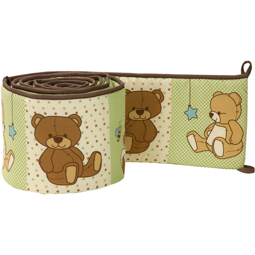 Little Bedding by NoJo Dreamland Teddy Crib Bumper, Unisex