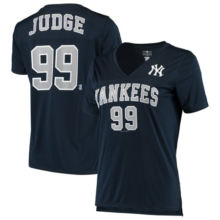 Women's 5th & Ocean by New Era Aaron Judge Navy New York Yankees Name & Number V-Neck T-Shirt ()