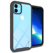 CoverON Apple iPhone 11 Case Heavy Duty Full Body Slim Fit Shockproof Clear Phone Cover - EOS Series