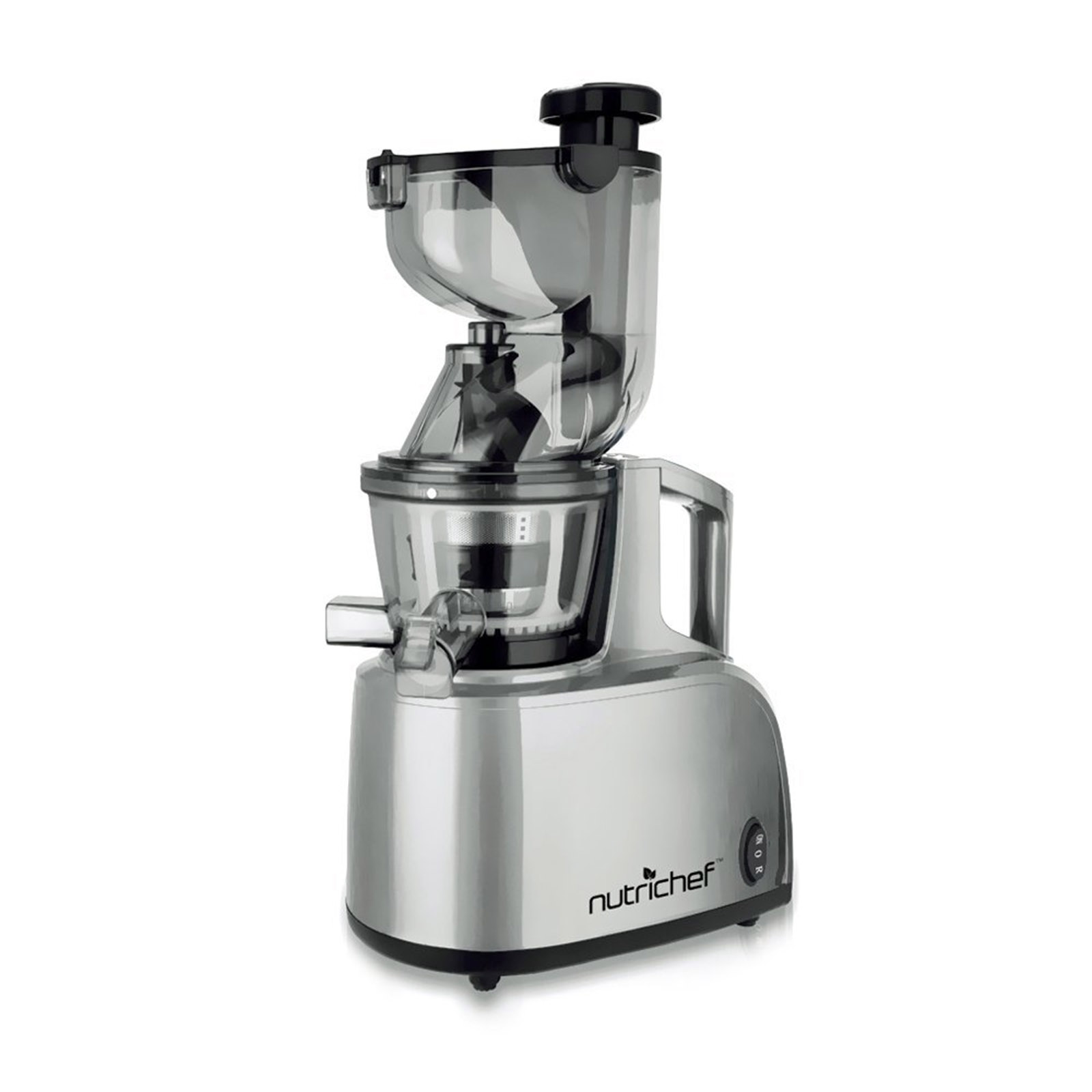 NutriChef Countertop Masticating Slow Juicer / Juice & Dr...