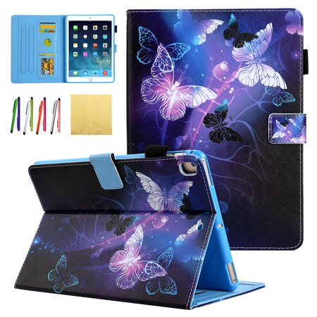 iPad 9.7 2018 2017/ iPad Pro 9.7/ iPad Air 1 2 Case - Allytech Premium PU Leather Stand Smart Case with Auto Wake/Sleep for Apple iPad 6th/ 5th Gen, iPad Air 1 2, Pro 9.7, Purple