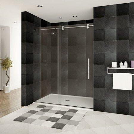 Lesscare Ultra D 48 X 79 Single Sliding Frameless Shower Door