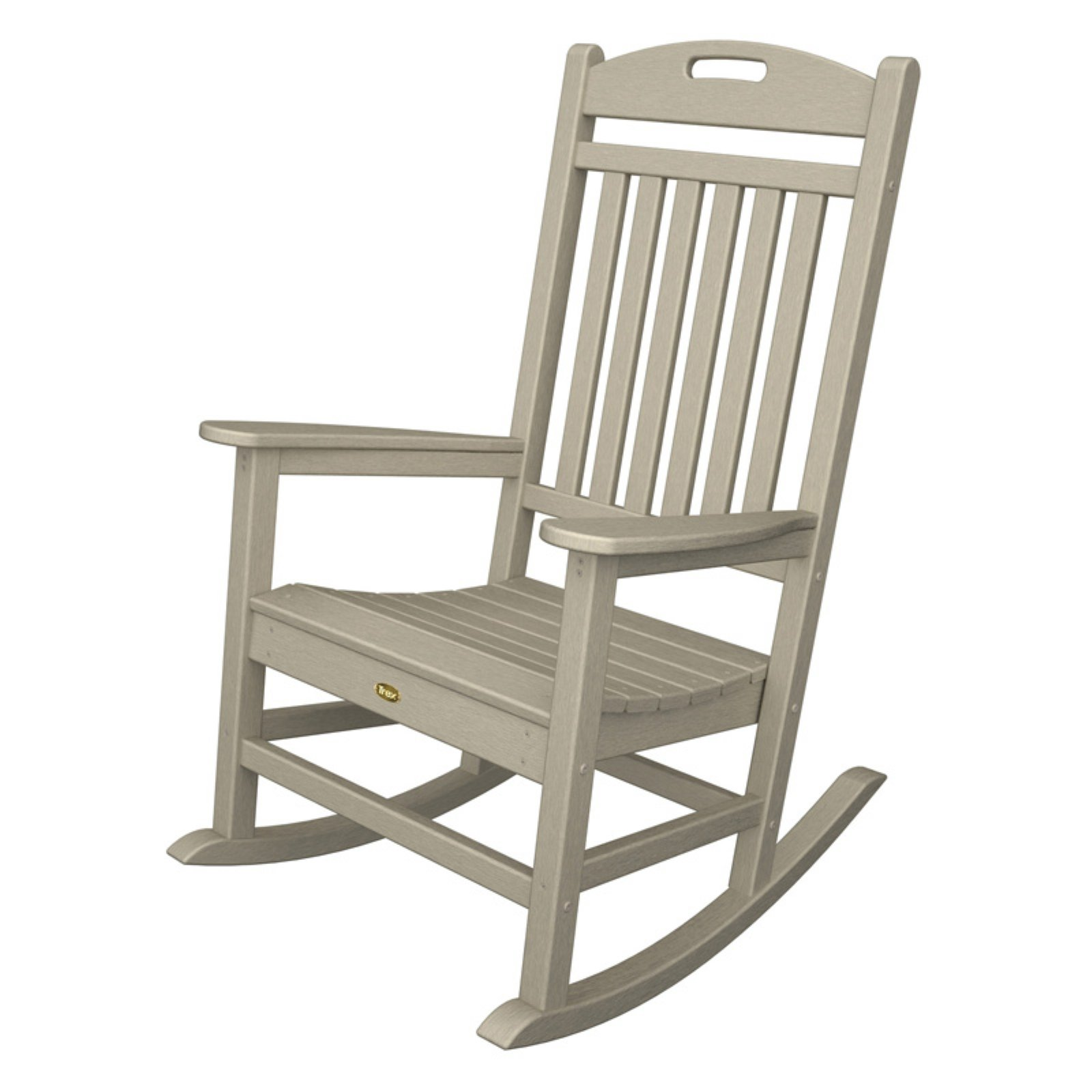 Trex outdoor furniture recycled plastic yacht club rocking chair walmart com