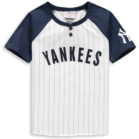 size 40 29989 15ccf New York Yankees Youth Game Day Jersey T-Shirt - White/Navy