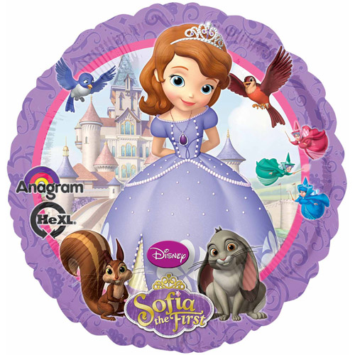 Sofia the First Mylar Balloon, 17""