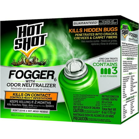 3 Pack - Hot Shot Indoor Insect Fogger 3