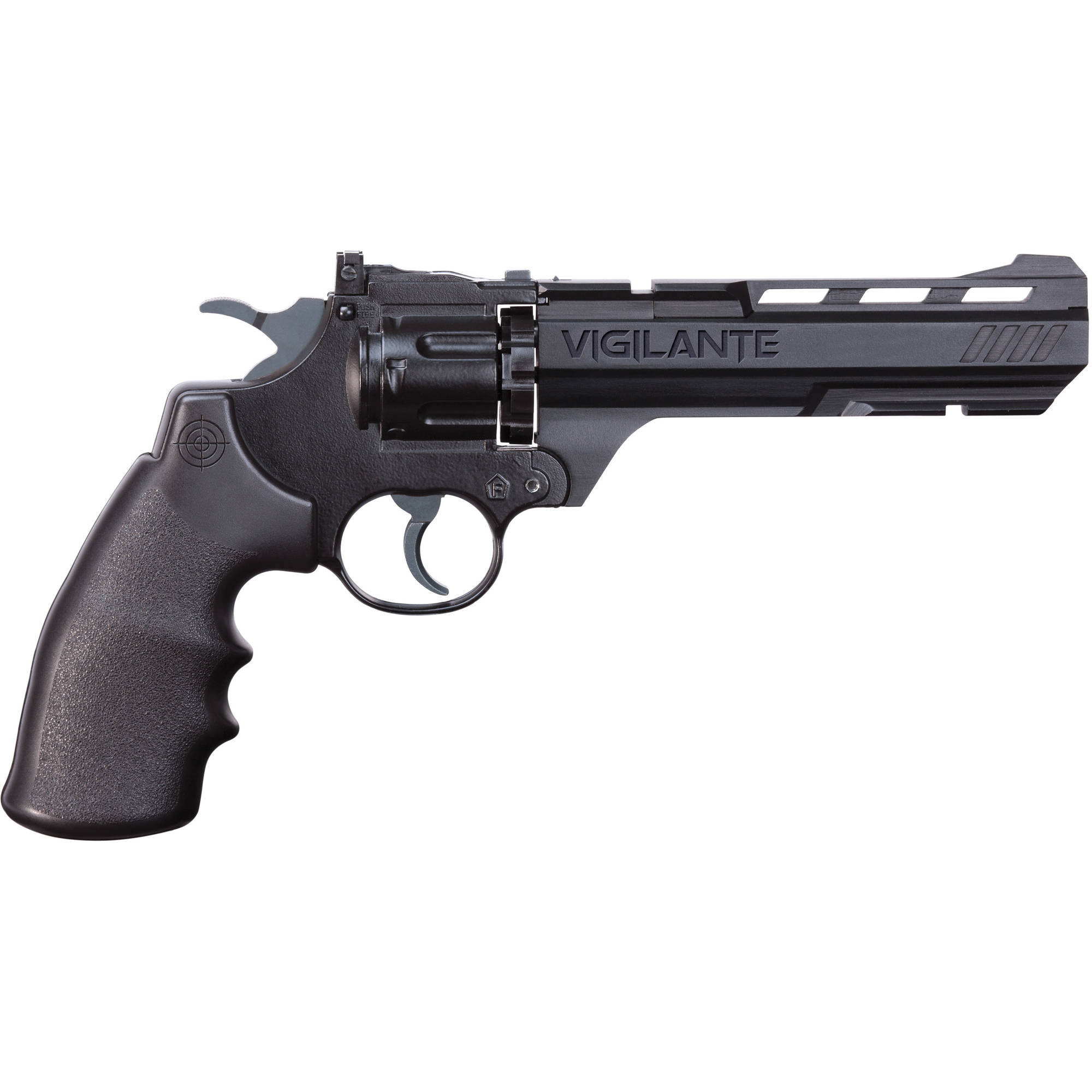 Crosman Vigilante BB Pellet Revolver .177 Caliber CO2 Air Pistol, 465fps by Crosman Corporation
