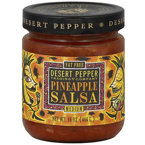 Desert Pepper Pineapple Medium Salsa, 16 oz (Pack of 6)