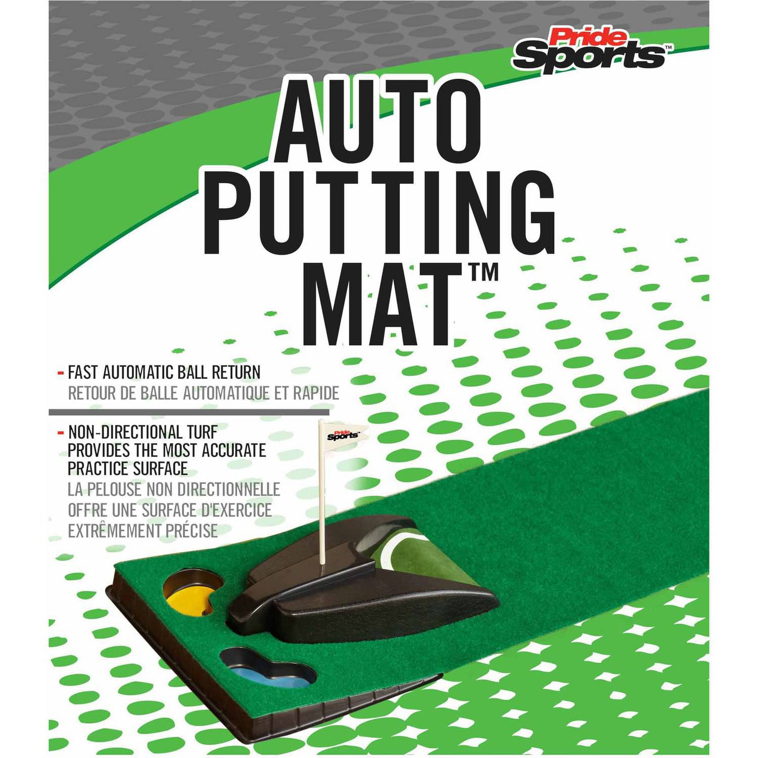 """PrideSports Auto Putting Mat with 7"""" Mat and Ball Return"""