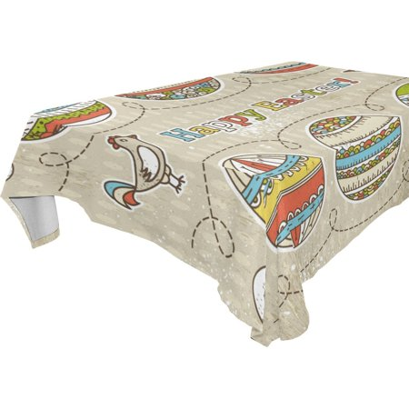 Easter Egg Table Linens - POPCreation Easter Egg Tablecloth 60x104 inches