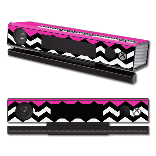 Mightyskins Protective Vinyl Skin Decal Cover for Microsoft Xbox One Kinect wrap sticker skins Hot Pink Chevron