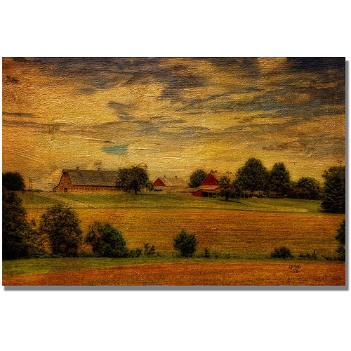 "Trademark Fine Art ""Family Farm"" Canvas Wall Art by Lois Bryan"