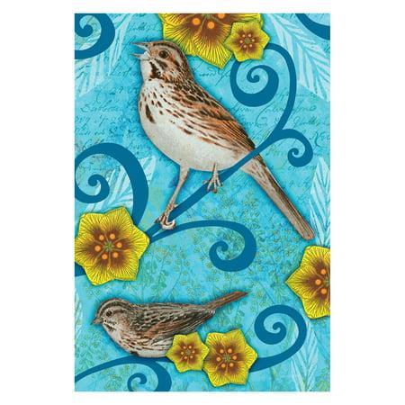 Toland Home Garden Song Sparrow Flag