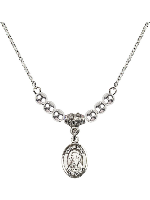 Bonyak Jewelry 18 Inch Hamilton Gold Plated Necklace w// 4mm Blue September Birth Month Stone Beads and Lighthouse Charm