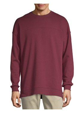 No Boundaries Men's Long Sleeve French Terry Crewneck Sweatshirt