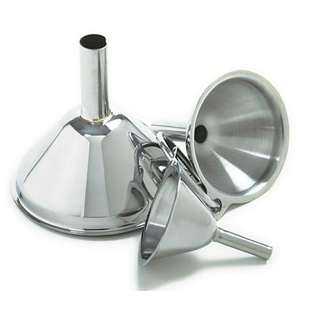 - Norpro Stainless Steel Funnel Set (3 Pieces)