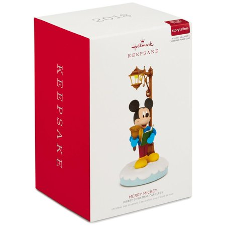 Hallmark Keepsake 2018 Disney Christmas Carolers Merry Mickey Musical Ornament With Light and Motion - Musical Christmas Ornaments
