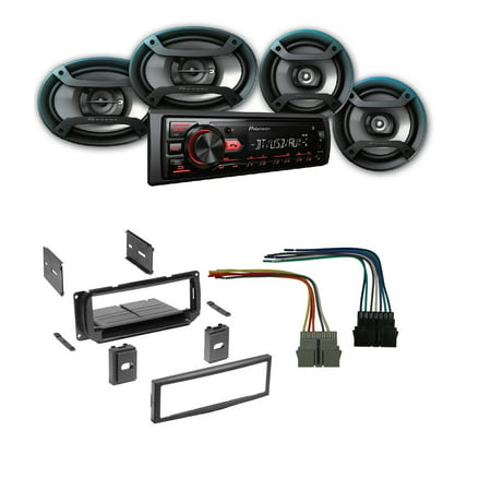 NEW CAR STEREO RADIO KIT DASH INSTALLATION MOUNTING TRIM BEZEL W/ WIRING Wiring Kit For Car Stereo on