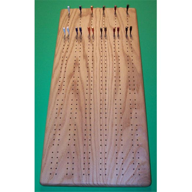 THE PUZZLE-MAN TOYS W-1403 Wooden Game Board - 6 Player Cribbage Board Plus Scoring Pegs With Storage