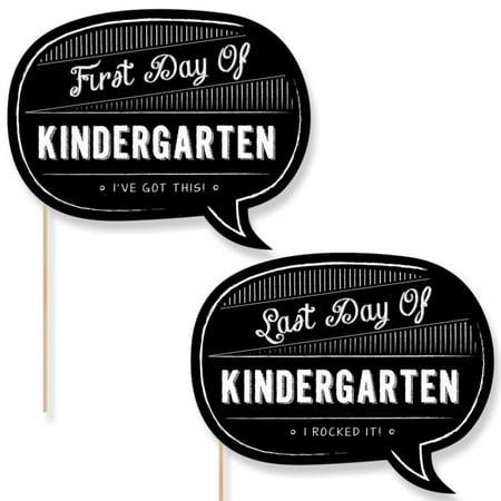 Kindergarten - First Day & Last Day of School Photo Props - Back To School - 2 Talk - Halloween Games For Kindergarten School Party