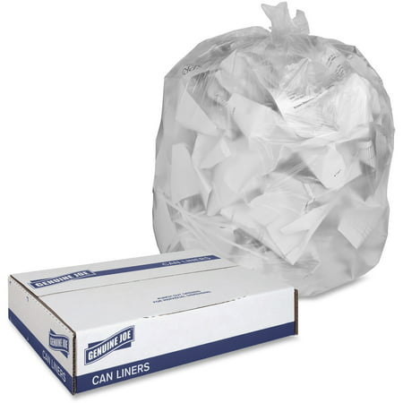 Genuine Joe, GJO70011, Economy High-Density Can Liners, 1000 / Carton, - Genuine Joe Construction Bags