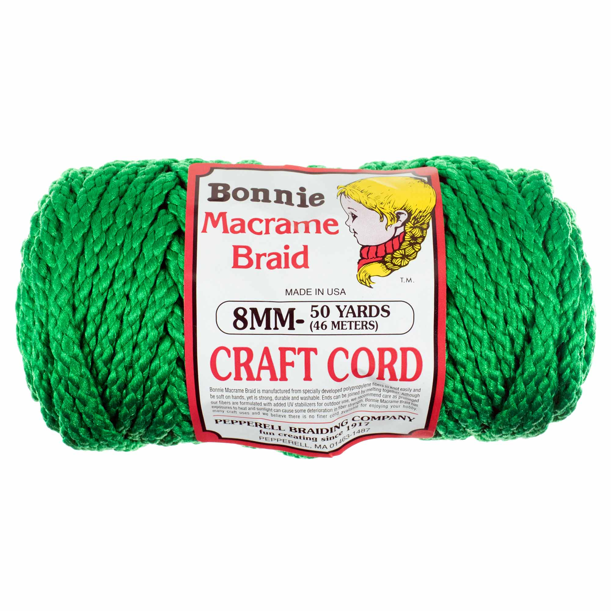 8mm Bonnie Crafting Cord - Great for Macrame and Other Crafts - 50 Yard Skein
