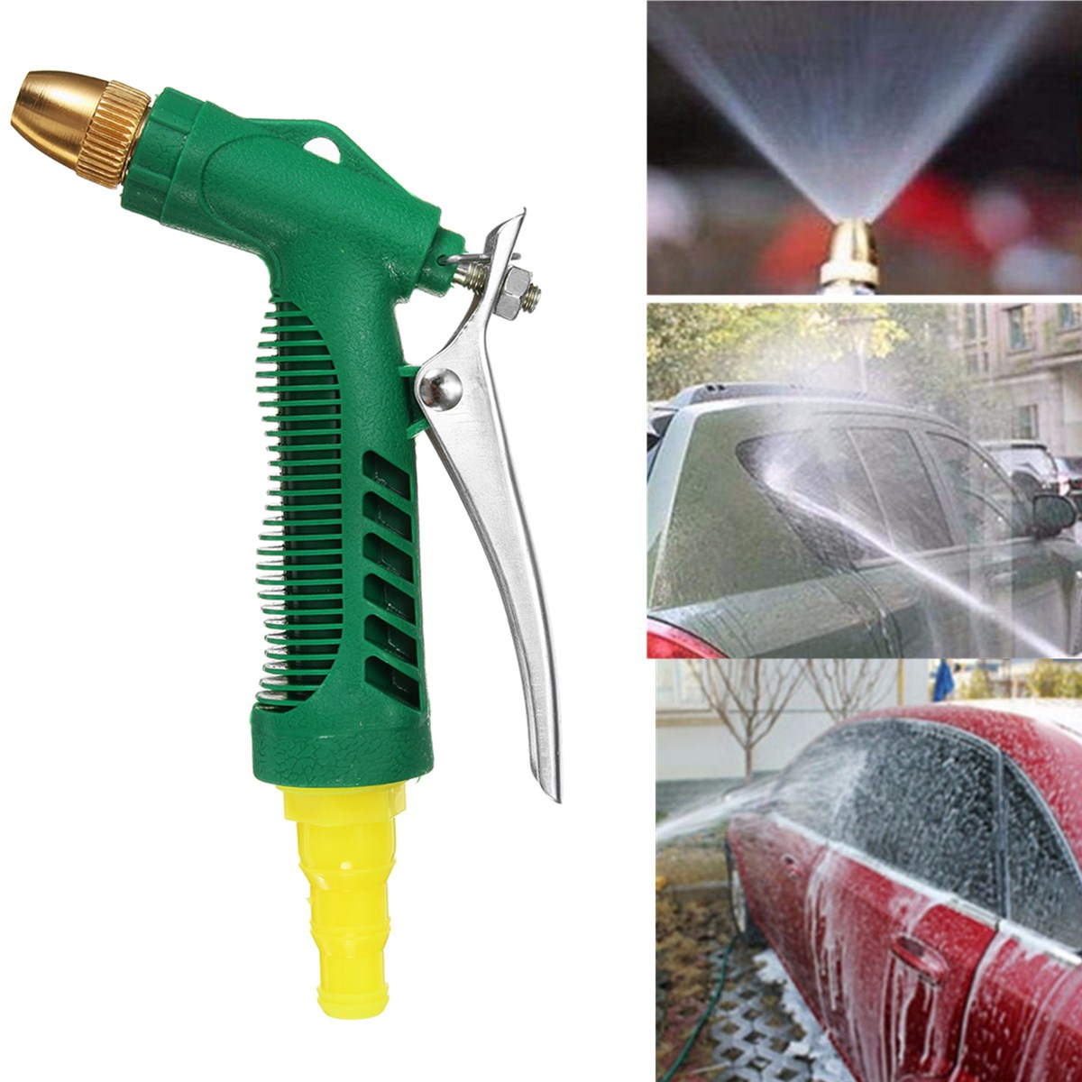 High Pressure Hose Nozzle Water Sprayer Lawn & Garden Watersavin 3 Adjustable Watering Patterns for Plants Pets Car Wash Tool