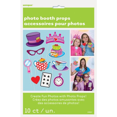 Alice in Wonderland Tea Party Photo Booth Props, 10pc - Party Photo Booth