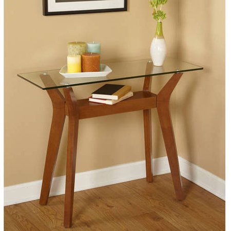 Fontana sofa table walnut for Sofa table at walmart