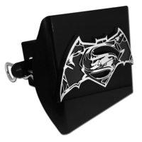 Batman v Superman Distressed Emblem on Black Plastic Hitch Cover