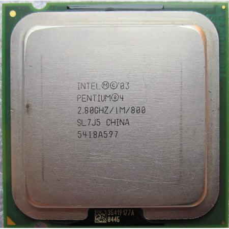 REFURBISHED Intel Pentium 4 520 2.80GHz / 1MB Cache / 800MHz SL7J5 Socket 775 CPU Processor 800 Mhz Processor Board